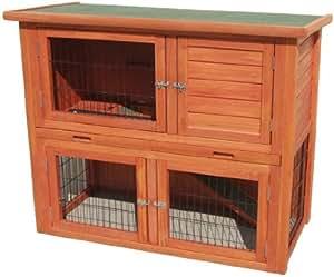 Kaninchenstall Hasenstall Hasenkäfig Kaninchenkäfig M3 , 116 x 97 x 63 cm