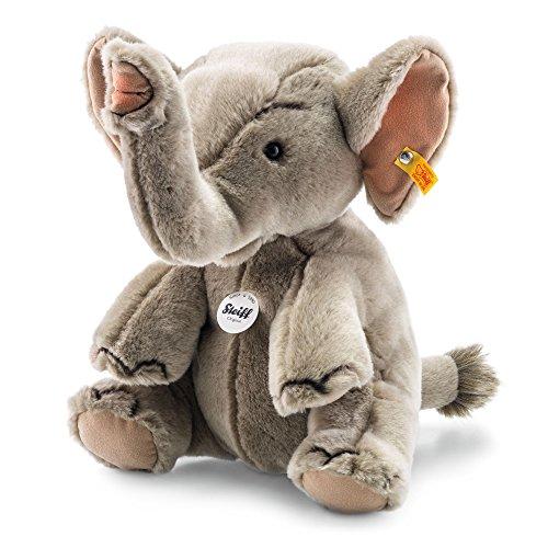 Steiff 64579 - Hubert Elefant 30 sitzend, Traditioneller Plüsch, grau