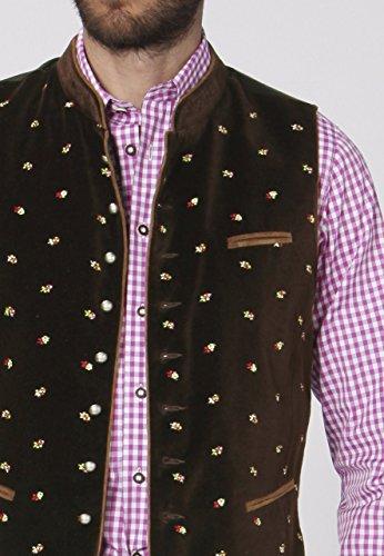 Stockerpoint - Herren Trachten Weste in verschiedenen Farbtönen, Calzado, Größe:46, Farbe:Braun - 5