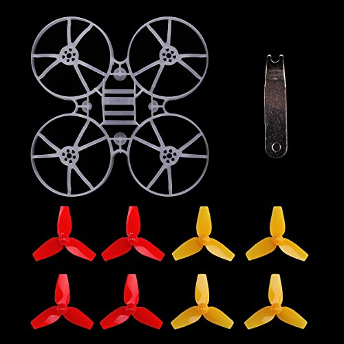 Fpv Goggles Kit (MakerStack Tiny 75GT 75mm Micro Whoop Frame w/8pcs 40mm 3-Blade Propellers and 1pc Props Removal Tool for 0703 Brushless Motors DIY Micro FPV Quadcopter Mini Drone)