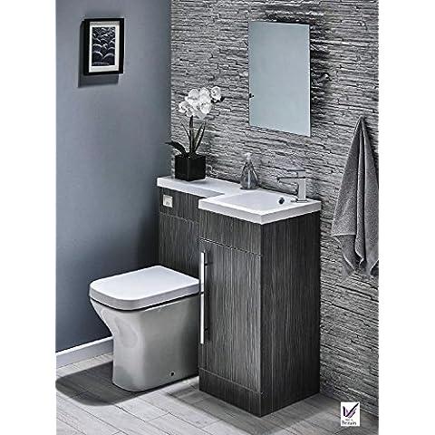 900mm a parete WC mobili set con (Harrison Bed Set)