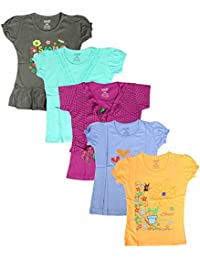 Krishy Creation Girls Tops with Fancy Design New Trendy and Wonderful Collection (Pack of 5)(10 Colours AVAILABLES)