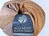 Lana Grossa Alta Moda Super Baby Color 306 Hellgrau/Hellorange/Altrosa 50g