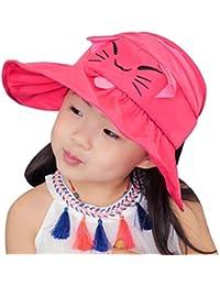 Vbiger Anti-UV Chapeau de soleil pour les enfants chat broderie d été Hat e2488cf2207