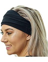 Bandeau de Yoga Antidérapant - - Idéal pour le sport, L'étirement, du Pilâtes, entraînement léger, l'exercice et le voyage Confortablemélangedebamboudoux-bandeauélastique,élégant&polyvalent