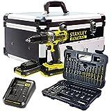 Stanley FatMax–fmck625d2F-qw Kit: Perceuse Visseuse à percussion 18V fmc625+ Set d'accessoires 50pièces (2batteries + chargeur + Boitier en aluminium)
