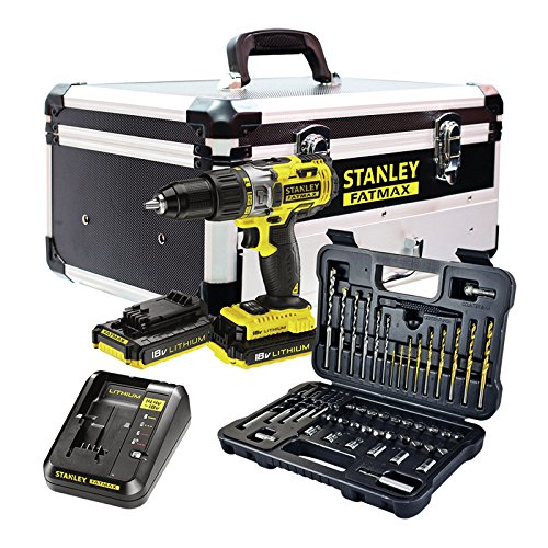 STANLEY FATMAX FMCK625D2F-QW - Taladro percutor 18V, 27.200 ipm, con 2 baterías de litio 2Ah,...