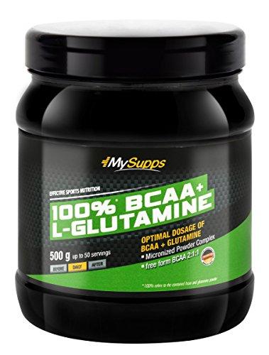 My Supps 100% BCAA-Glutamin Powder, 1er Pack (1 x 0.5 kg)