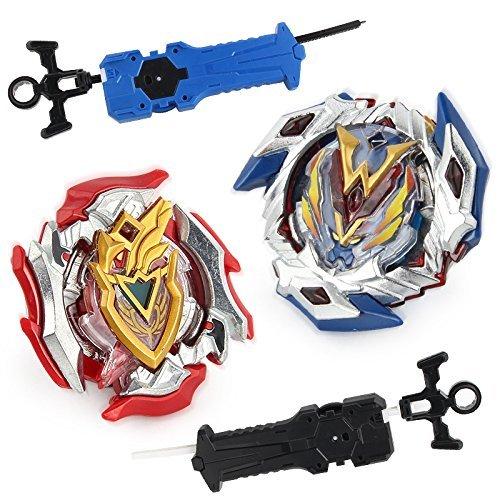 OBEST Peonzas de Batalla Juguete basado en la Serie Beyblade Giratorio con Lanzador para Niños
