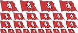 Mini Aufkleber Set - Pack wehend - 4x 51x31mm+ 12x 33x20mm + 10x 20x12mm- selbstklebender Sticker - Tunesien - Flagge / Banner / Standarte fürs Auto, Büro, zu Hause und die Schule - Set of 26