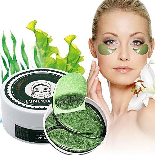 Eye Mask, Augenpads, Anti Aging Pads, Collagen Maske, Augenpflege mit Hyaluron, Feuchtigkeit Spendende, Entfernen Taschen, Dunkle Kreise & Puffiness, 60pcs/box -