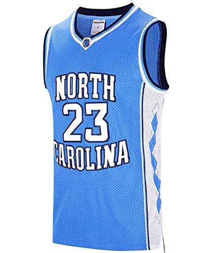 Basketball Trikot Herren Basketball Trikot Michael Jordan Nr.23 North Carolina Swingman Jersey Basketballtrikot für Herren Jungen Männer Fans S-XXXL (Trikot Michael Jordan)