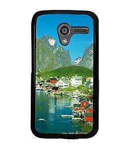 printtech Sea Side Greenery Scenic Country View Back Case Cover for Motorola Moto X XT1058::Motorola Moto X (1st Gen)