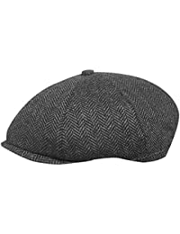 c2e946a5234 TOSKATOK® Unisex Mens, Ladies 8 Panel Herringbone Tweed Wool Blend Baker  Boy Newsboy Flat