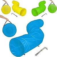 TecTake XXL túnel de ejercicio para perros cueva plegable juego agility 500x60cm - disponible en diferentes colores - (Azul | no. 401225)