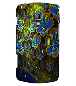 PrintDhaba Flower D-2456 Back Case Cover for SAMSUNG GALAXY S DUOS S7562 (Multi-Coloured)