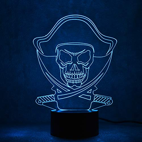 lle Usb Leuchte Tischlampe Schlafzimmer Dekor Piraten Modell Lampe Schlafen Nachtlicht Kreative Geschenke ()