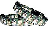Halsband Hund Winter Weihnachten Nylon Schneemann Geschenk Christmas Hundehalsband Collar Klickverschluss M verstellbar 40 - 50 cm x 2,5 cm