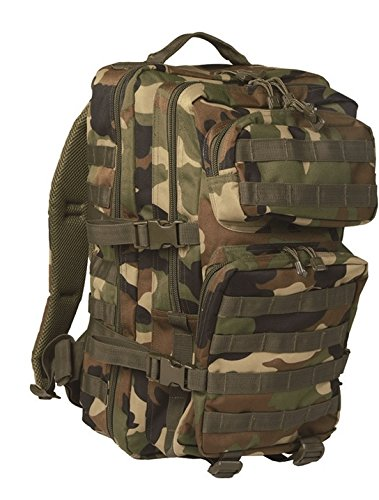 Mil-Tec MOLLE Tactical Assault Backpack - Large 36 Litre (Woodland) f633766dc9b
