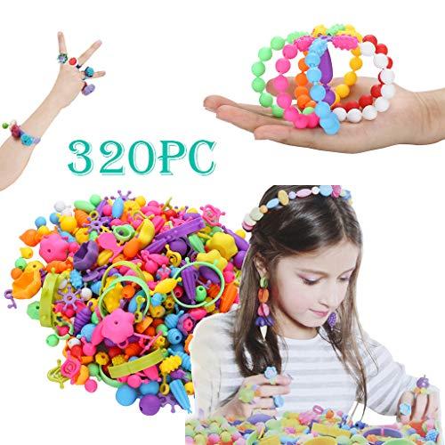 mxjeeio 150/320/500pcs Pop Perlen Schmuck Machen Kit 4-10Jahre alte Mädchen Halskette Armband Ringe Kreativität - Erwachsenen-modell-kits