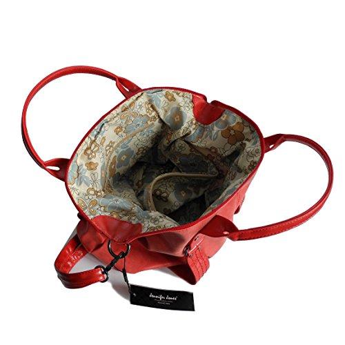 Jennifer Jones - präsentiert von ZMOKA®, Borsa tote donna nero nero metallizzato Rot