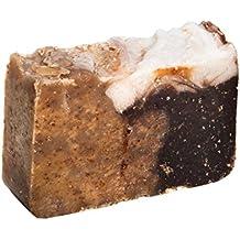 Pastilla de jabón de miel y avena (4Oz) - Orgánica y artesanal con aceites terapéuticos esenciales. Jabón corporal natural e hidratante para piel y cara. Con manteca de karité, aceite de coco y glicerina natural.