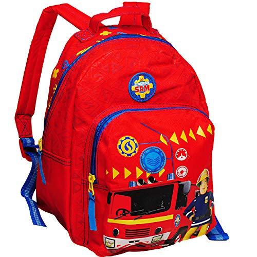 alles-meine.de GmbH 3D Effekt _ Kinder Rucksack - Feuerwehr & Feuerwehrmann Sam - Tasche - beschichtet & wasserfest - Kinderrucksack / groß Kind - Jungen - z.B. für Kindergarten .. -
