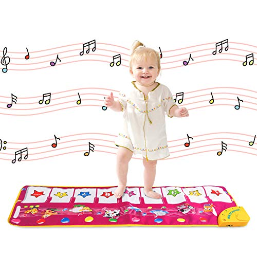 Shayson Piano Mat, Music Carpet Touch Play Keyboard Mat for Baby Toddler Funny Play Blanket Musical Instrument Toy Mat Great Baby Toy Gift for Birthday Christmas