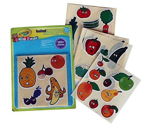 Crayola Mini Kids Aufkleber für Früchte und Gemüse, wiederverwendbar, 81-2010-E-000 (Und Farbe Crayola Aufkleber)