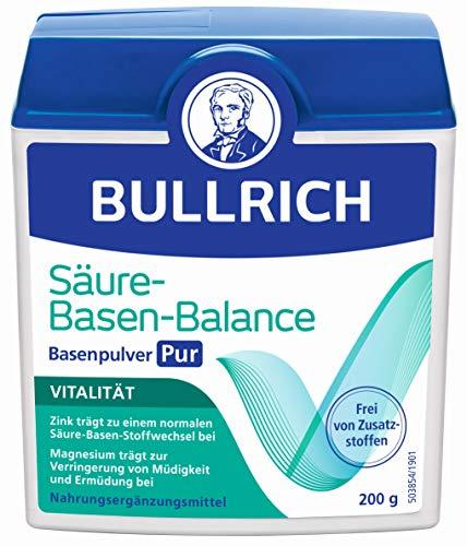Bullrich Säure-Basen-Balance Basenpulver Pur | Mit Zink für einen ausgeglichenen Säure-Basen-Haushalt | inkl. Messlöffel (200 g) -