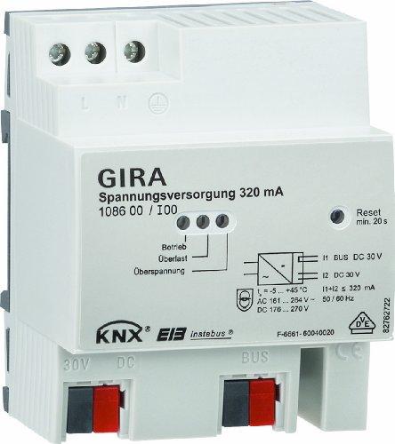 Gira 108600 Spannungsversorgung 320 mA mit Drossel KNX EIB REG