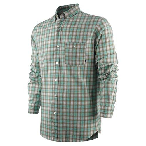 mens-nike-60-road-dog-dri-fit-green-check-shirt-size-s