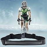 Sport Hüfttasche, Flycool Laufgürtel elastische Gürteltasche Bauchtasche Running Belt mit Kopfhöreranlass für Handy und Reflexstreifen für Nachtsichtbarkeit - 4