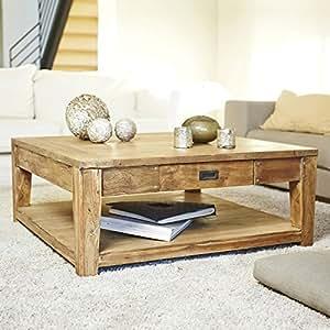 Table basse carrée en bois de TECK RECYCLE 100cm