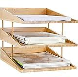 Nclon Ablagefächer,Organisator schreibtisch,Schreibtisch tidy,Tisch-organizer,Caddy,Organizer,Schublade Bambus -A 34*25*26cm