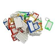 DealMux 36 Stück Multicolor Key ID-Aufkleber Schlagwörter Split Ring Schlüsselanhänger Schlüsselanhänger