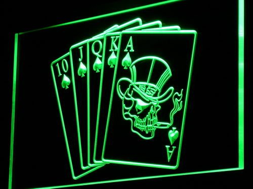 Enseigne Lumineuse i942-g Royal Flush Casino Poker Game Gift Light Sign