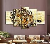OPEN BUY kit mosaico 5 cuadros diseño tigre piedras puzzle cristales multicolor para manualidades, regalos, cuadros, relax, terapias relajantes. antistress regalo