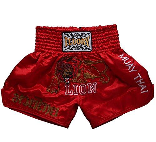 FLUORY Muay Thai Fight Shorts, MMA Shorts Bekleidung Training Käfig Kampf Grappling Martial Arts Kickboxing Shorts Kleidung -