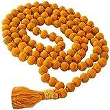 10 MM Bead Size - 108 Beads Haldi Jap Mala/Rosary Turmeric 108 Beads/Haldi Mala/Rosary Haldi Mala For Bagalamukhi Puja/Siddh Baglamukhi Jaap Mala | Vrindavan Bazaar