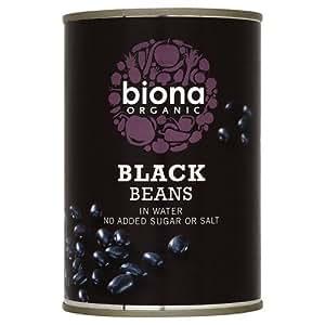 Biona Organic Black Beans 400 g (Pack of 12)