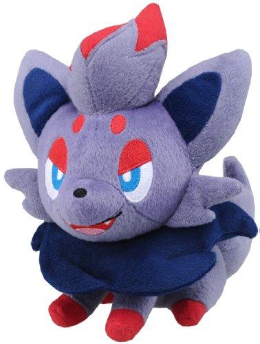 Pokemon: Best Wishes! (Schwarz + Weiß) Stofftier / Plüsch Figur: Zorua (lachend) 20 cm (T.T.)