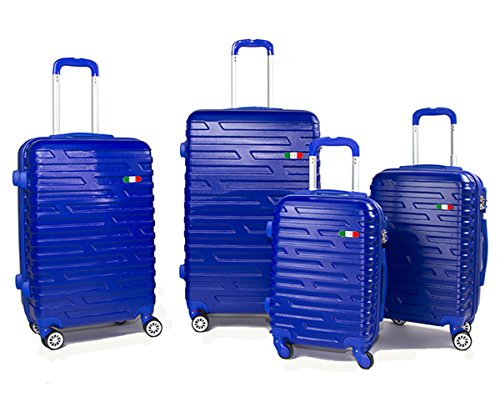 f0939e219 Set 4 trolley bagagli rigidi in policarbonato abs ultraleggeri 4 ...