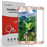 Samsung Galaxy S7 Edge Protecteur D'écran, Lanhiem Verre Trempé Protecteur [Garantie à Vie] [Couverture Complète] Anti Rayures pour Samsung Galaxy S7 Edge, Or Rose