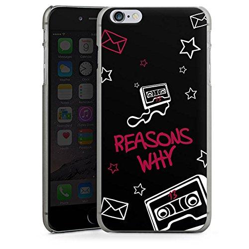 Apple iPhone X Silikon Hülle Case Schutzhülle reasons why 13 reasons Kassette Hard Case anthrazit-klar