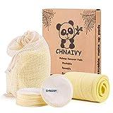 Chnaivy Tampons Démaquillants En Cotton(Paquet De 12),Lingette Démaquillante...