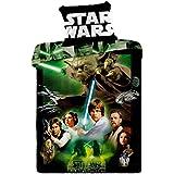 Jerry fabrics JF0128 juego de Star Wars, 1 x funda de edredón de/funda de almohada, 100 por ciento de algodón, 140 x 200 y 70 x 90 cm, colour verde