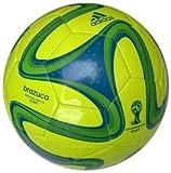 Adidas Fußball Brazuca Glider, WM 2014 Brasilien Fußball, gelb/grün/blau, 5, S04467