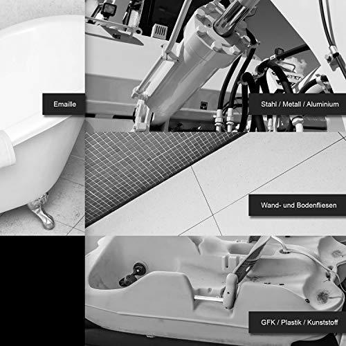 BEKATEQ LS-190 2K Universal Lack glänzend, 2,5kg RAL9005 Tiefschwarz, für Metall, GFK, Kunststoff, Fliesen, Emaille, Porzellan, Badewanne, Duschwanne