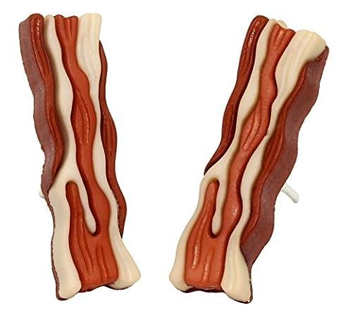 Bluebubble ALL DAY BREAKFAST Crispy Bacon Earrings With FREE Gift Box